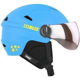 Bliz Jet Visor Helm Kinderen, blue-yellow